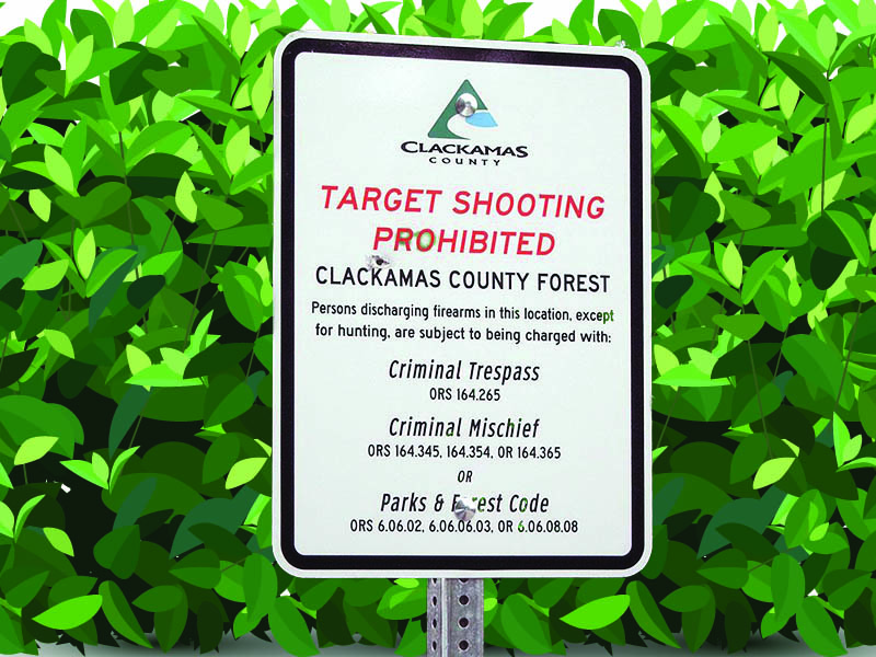 shooting prohibited sign