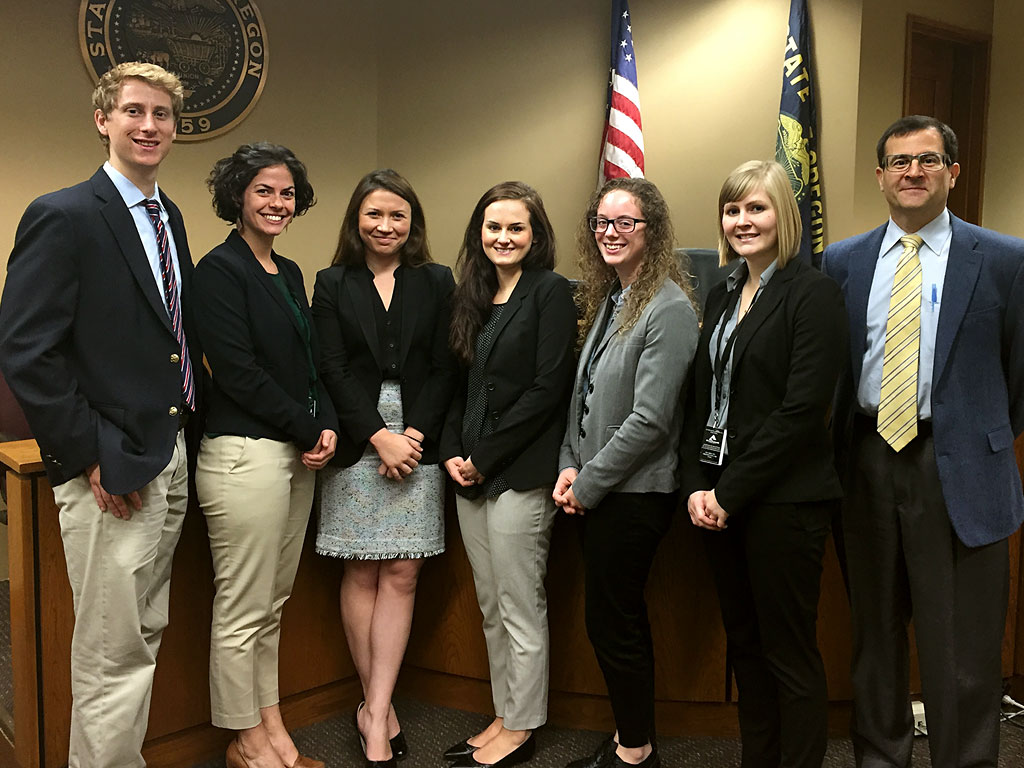 Six Law Clerks along with the Program Supervisor, Bryan Brock.