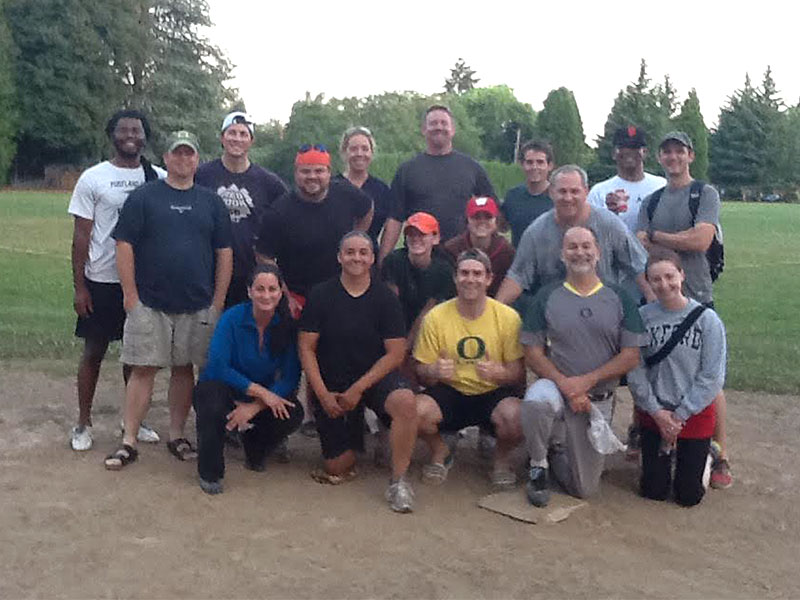 Clackamas County District Attorney's Office Law Softball Team.