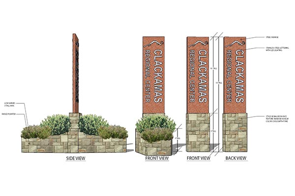 Town Center signage rendering