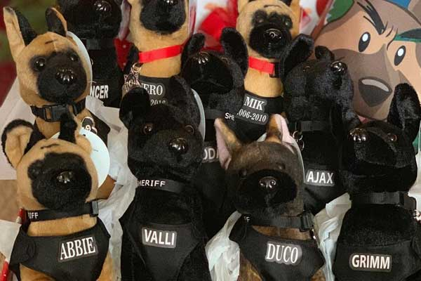 Stuffed versions of our K9 officers