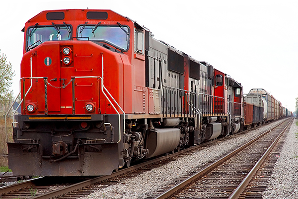 Freight train shipping products