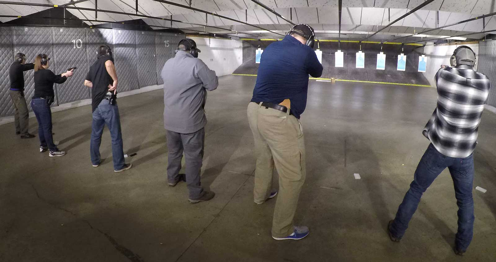 Firearm instruction on one of our gun ranges.