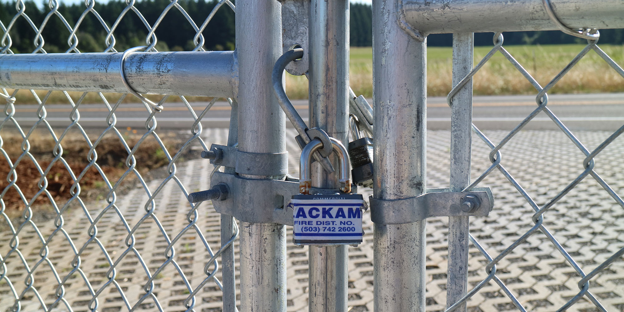 Locked gate