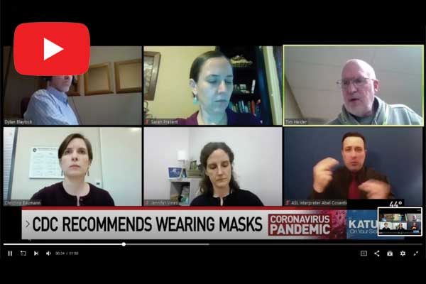 Health experts discuss use of masks