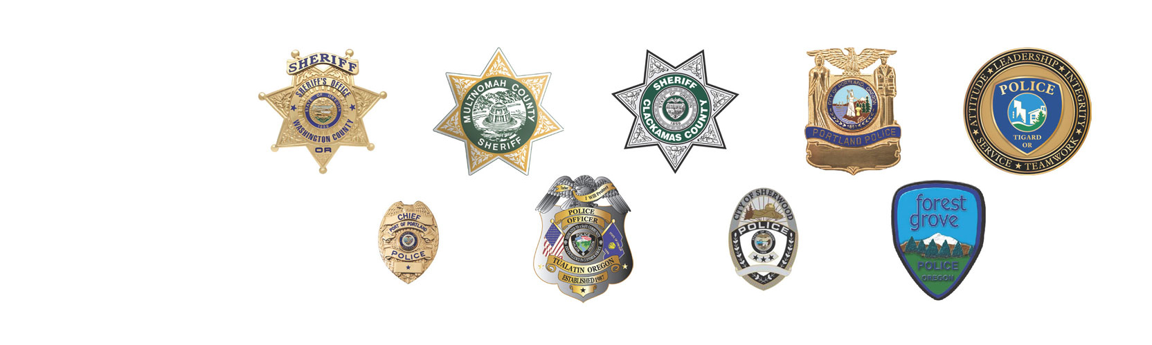 Sheriff offices' emblems
