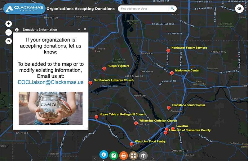 Donation map