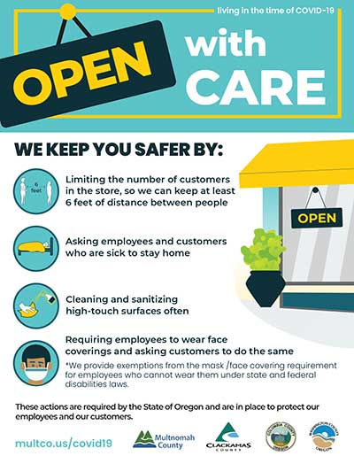 Open With Care poster