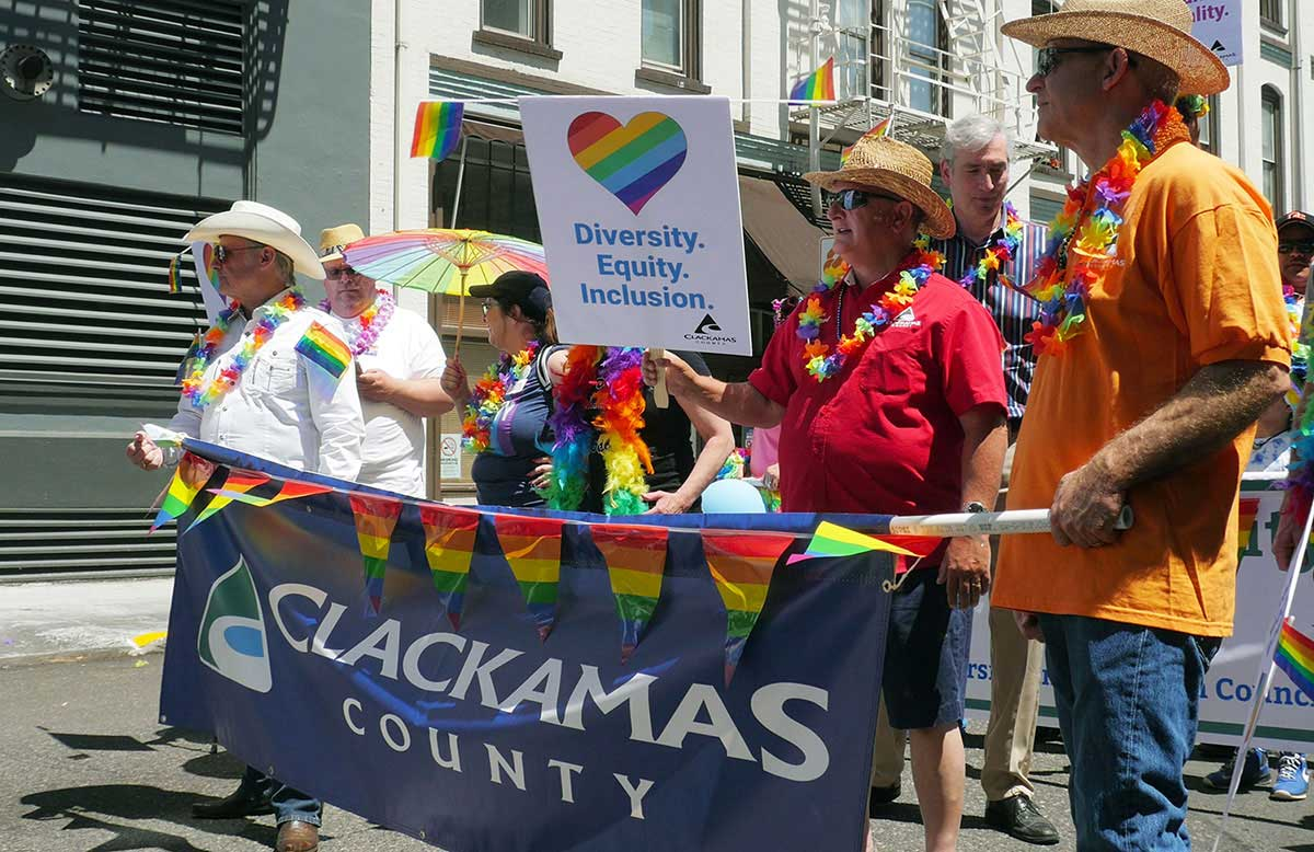 Commissioners at the Portland Pride Parade