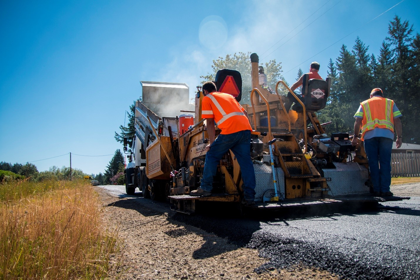 working on Clackamas County Roads