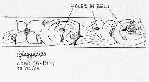 Details of victim's leather belt