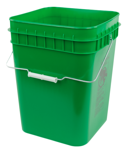 square bucket (green)