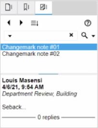 Changemark list