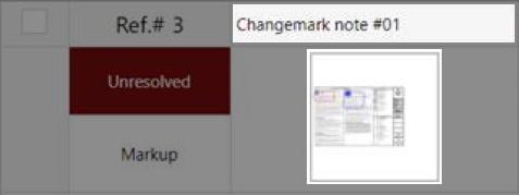 Changemark note