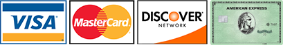 We accept Visa, Master Card and Discover Card