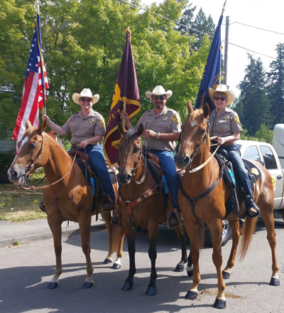 Mounted members of the SHeriff's Posse