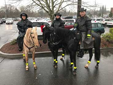 Patrolling Clackamas Town Center at the holidays