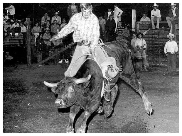 Historical photo of rodeo