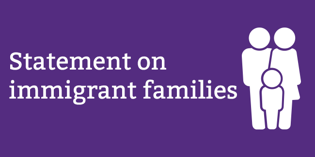 Statement on immigrant families