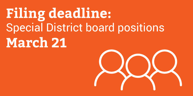 Special District Deadline