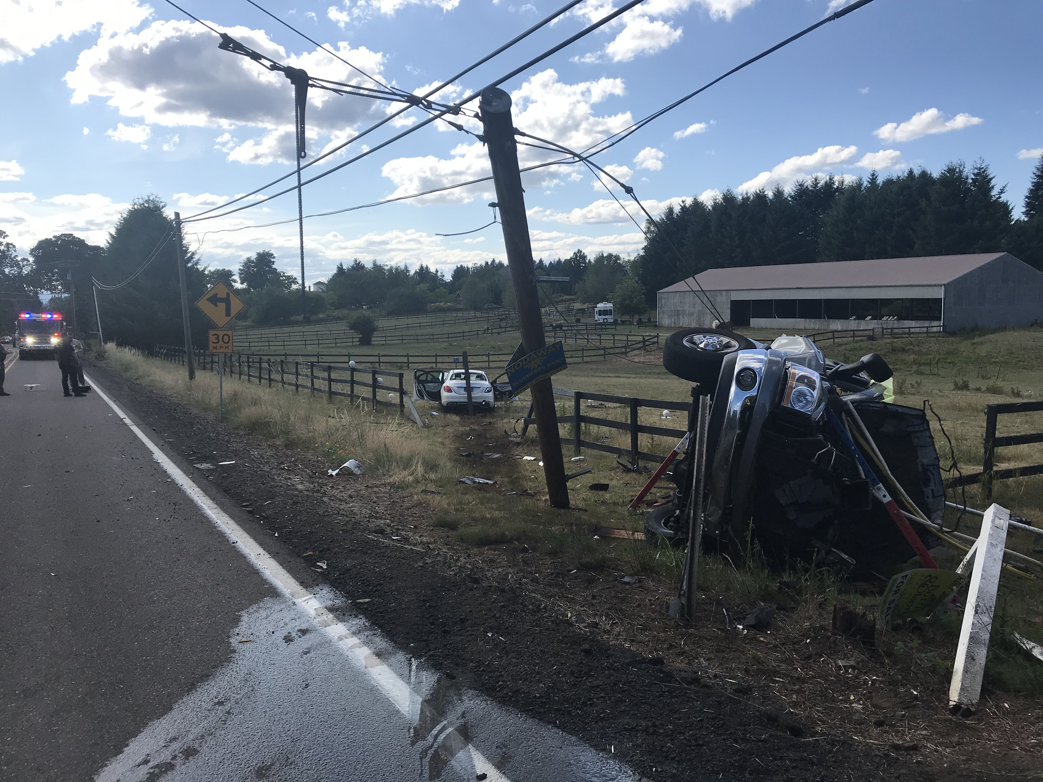 Roll-over crash in Tualatin