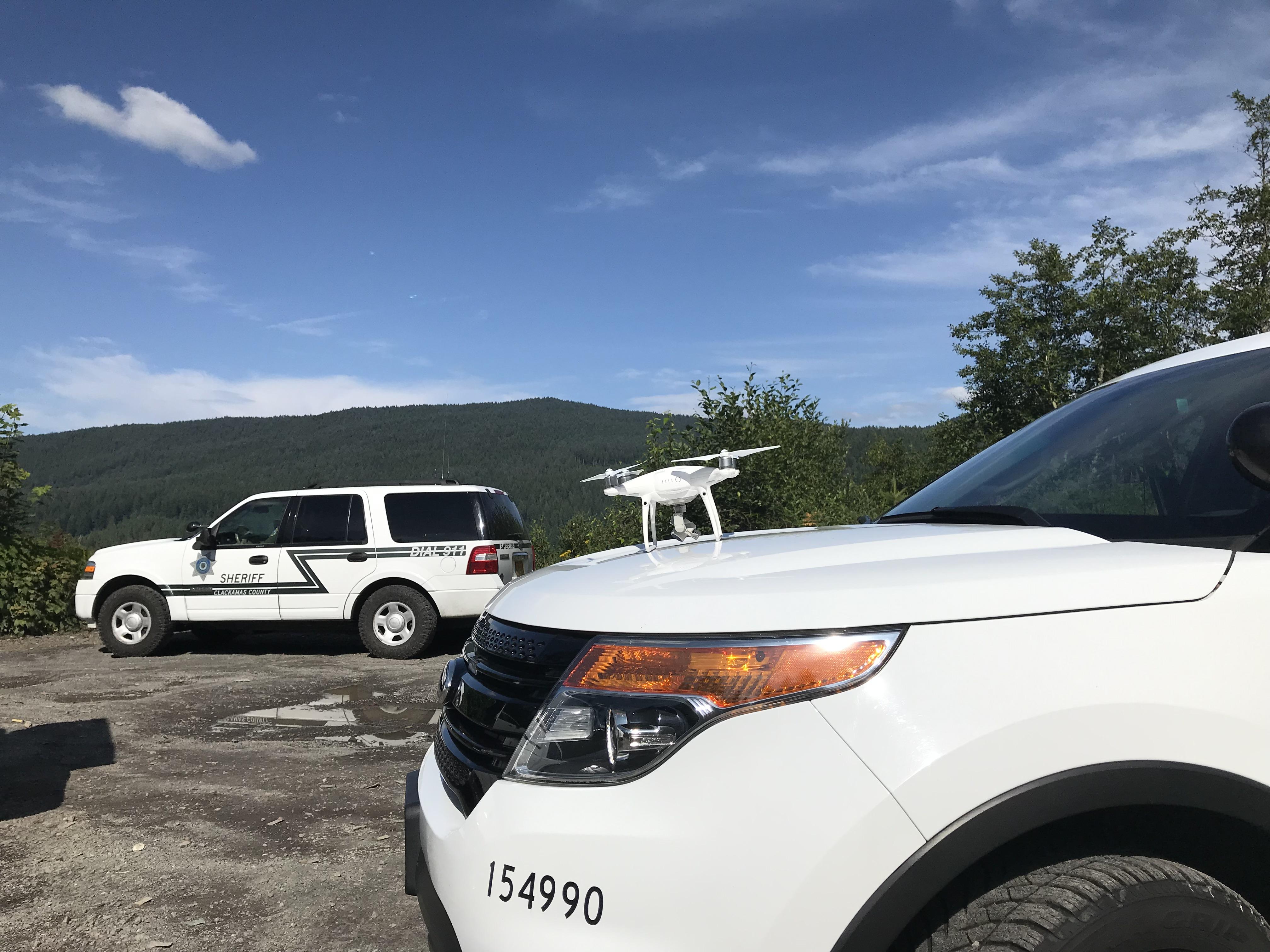 Patrol vehicles at scene
