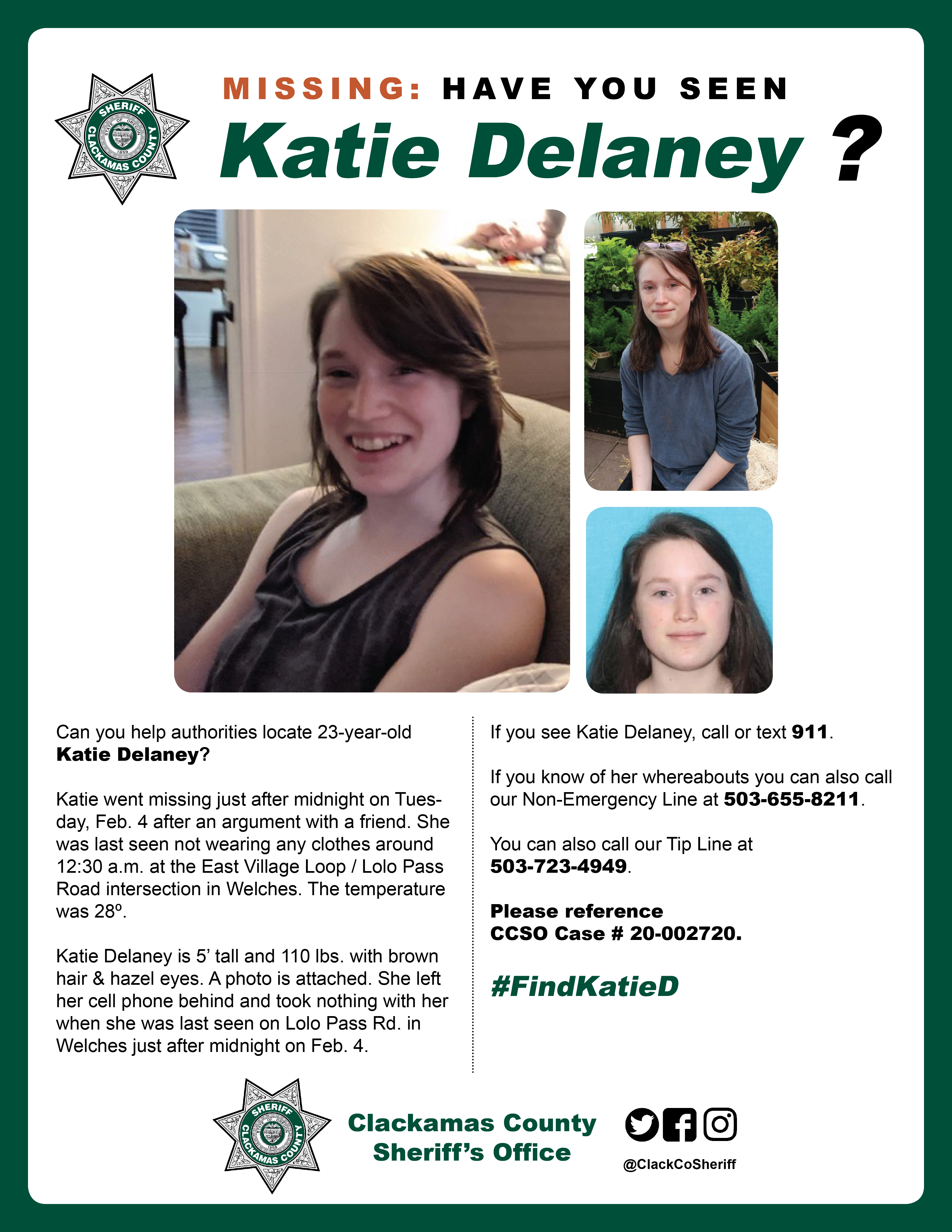 Katie Delaney search bulletin