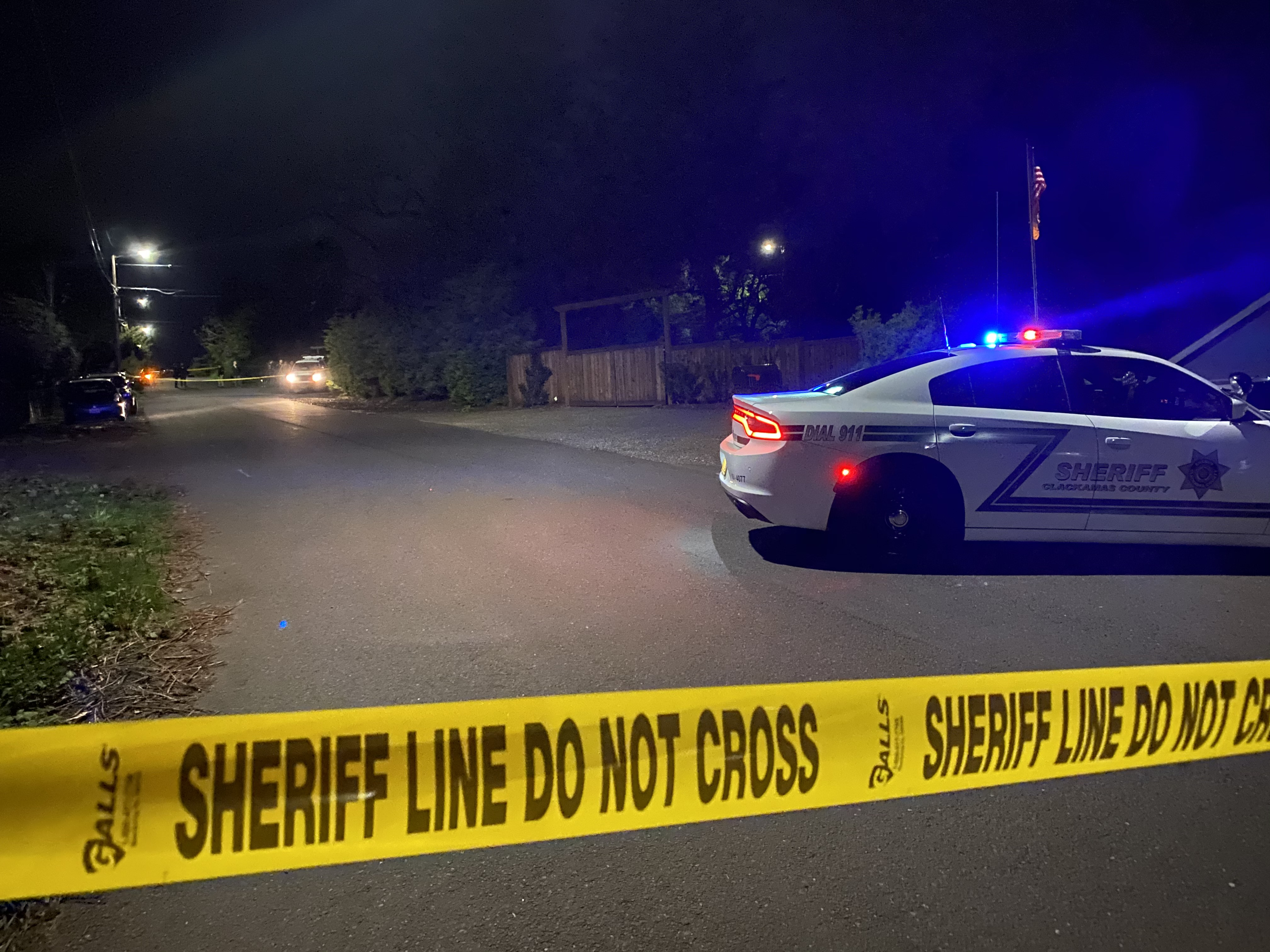 April 11 officer-involved shooting -- investigation scene
