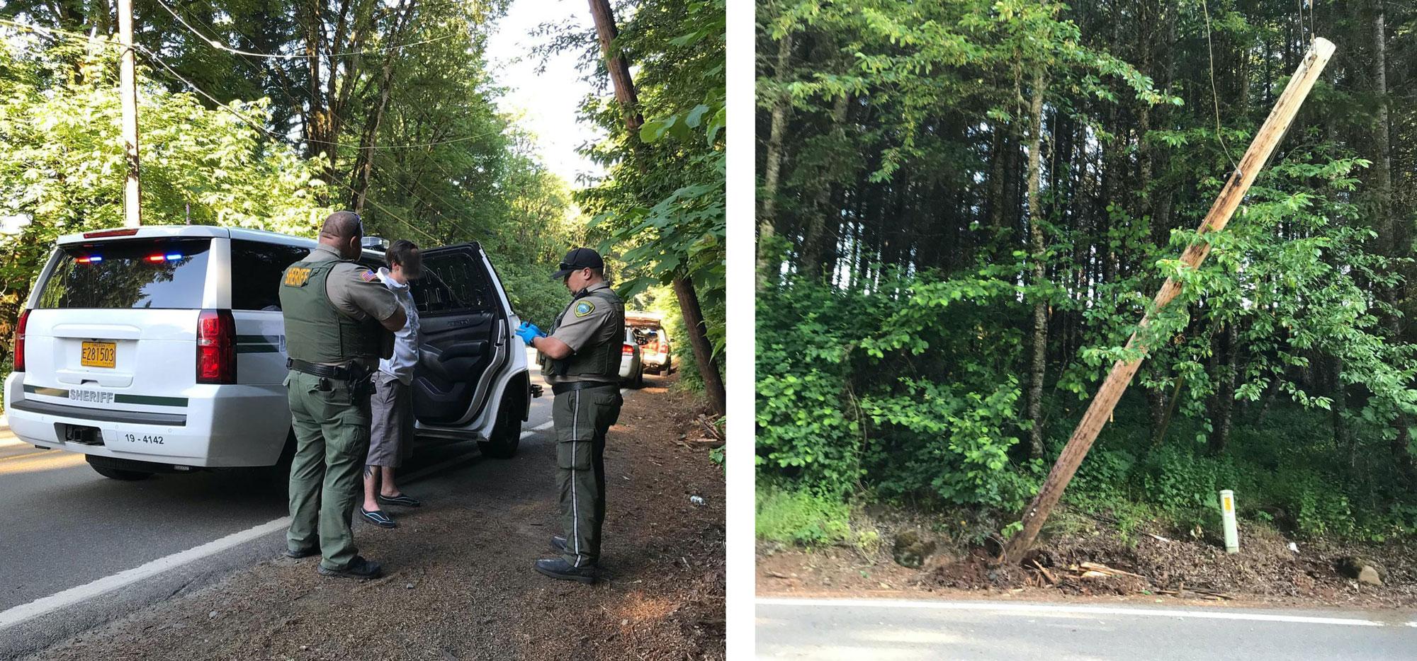 Pole down in Beavercreek; DUII arrest ensues