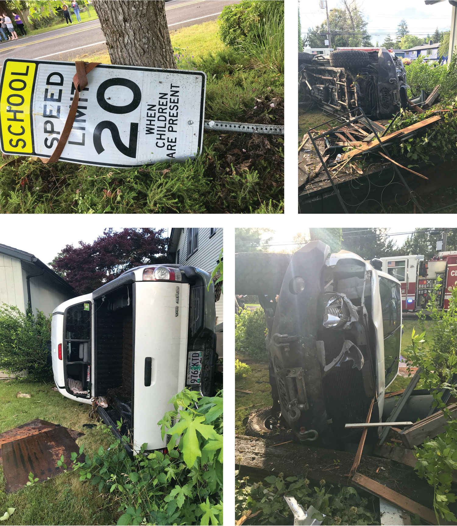 DUII truck into house