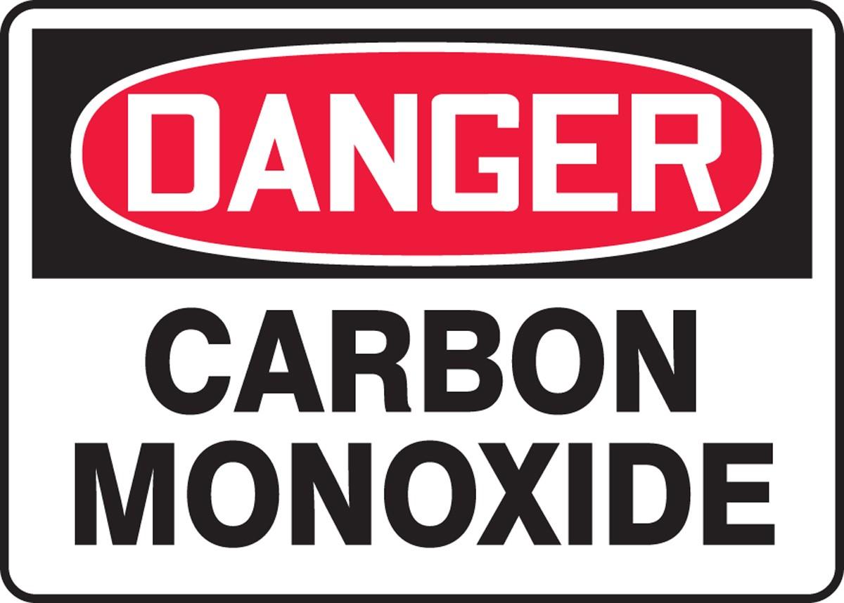 Carbon monoxide warning sign