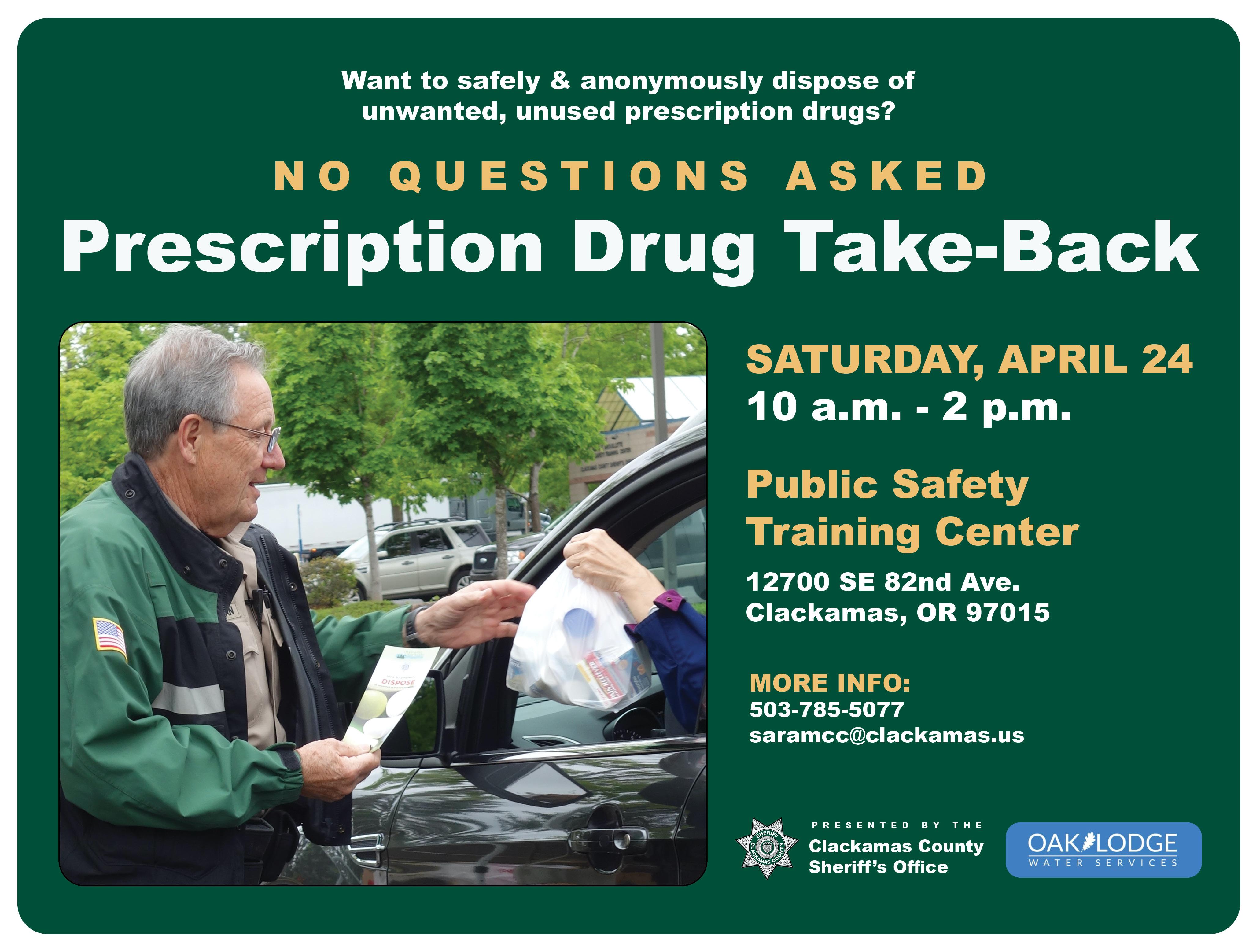 Prescription drug turn-in flyer