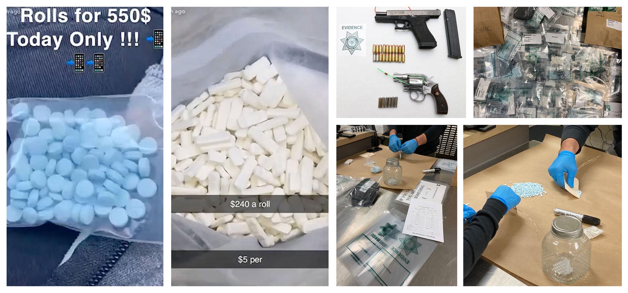 Snapchat pill bust