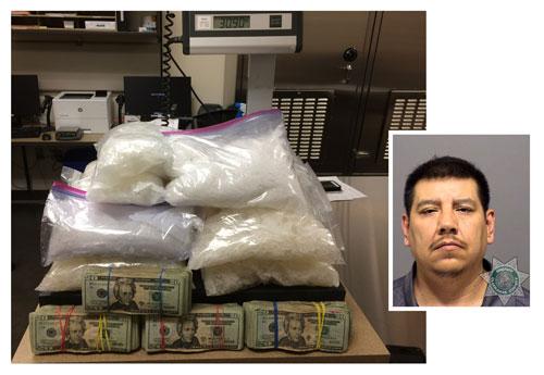 CCITF arrests suspect, seizes cash, drugs in 31-lb  meth
