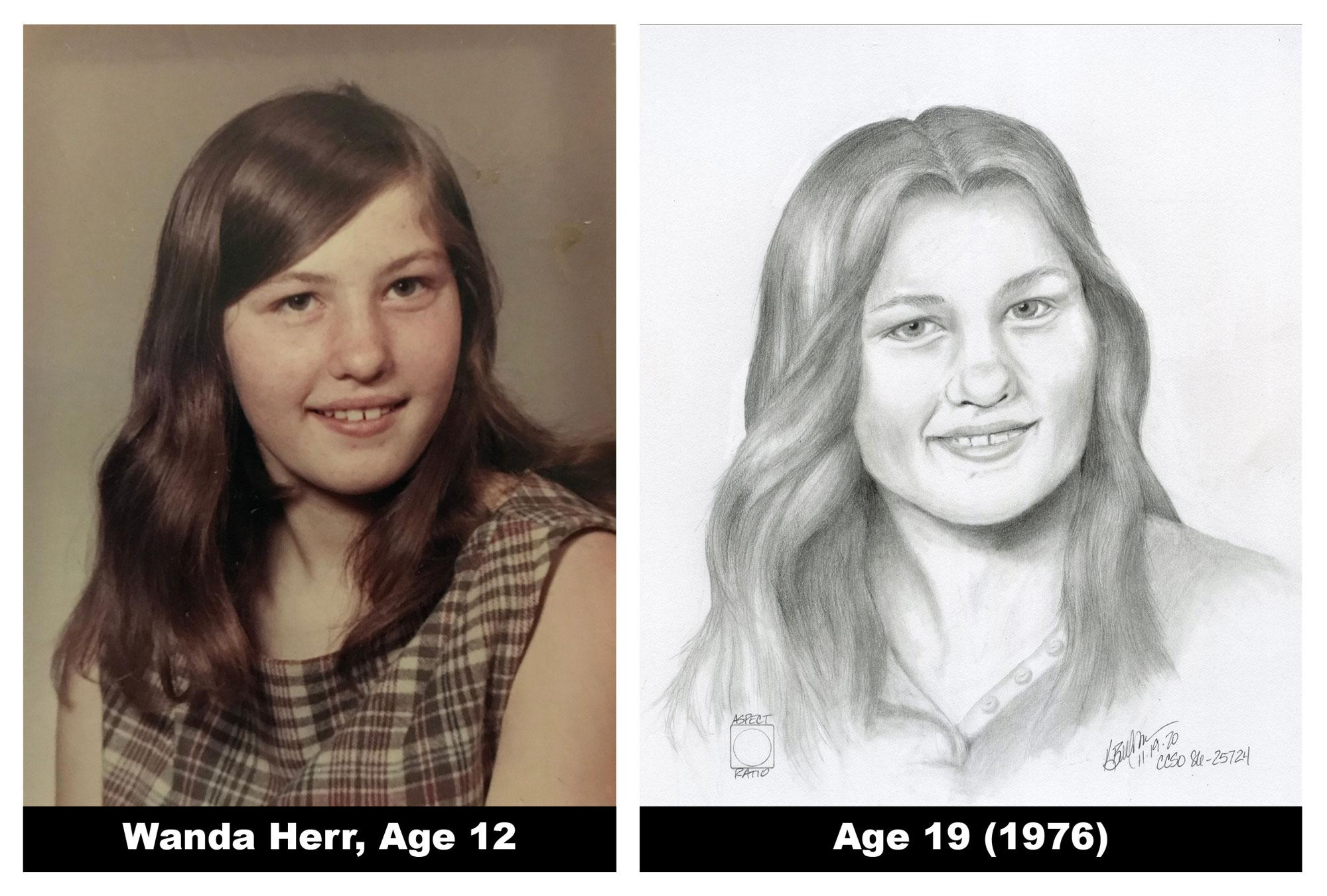 Wanda Herr: Age progression sketch