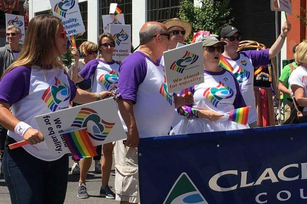 Commissioners and employees turn out to support our LGBTQ community