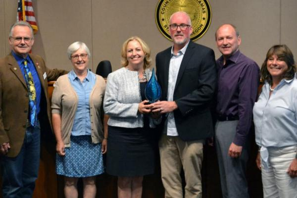 "Commissioners Recognize Water Environment Services for Receiving ""Outstanding Member Agency"" Award"