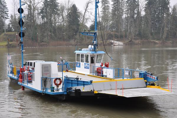 Canby Ferry on the water