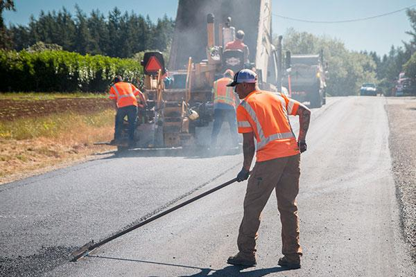Resurfacing roads near Wilsonville