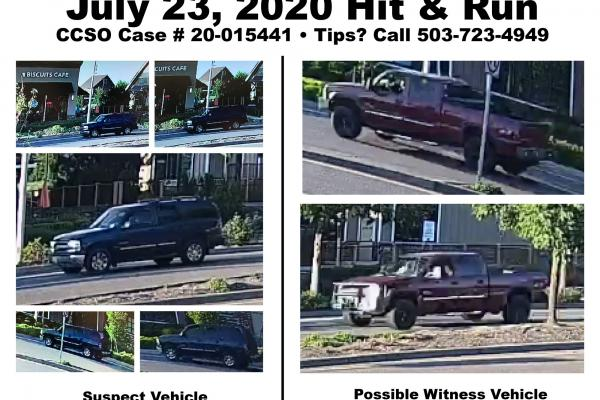 Suspect and Witness vehicles - tips sought