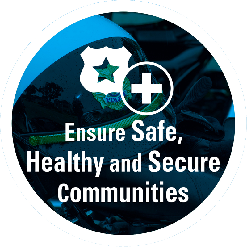 Ensure safe, healthy, and secure communities