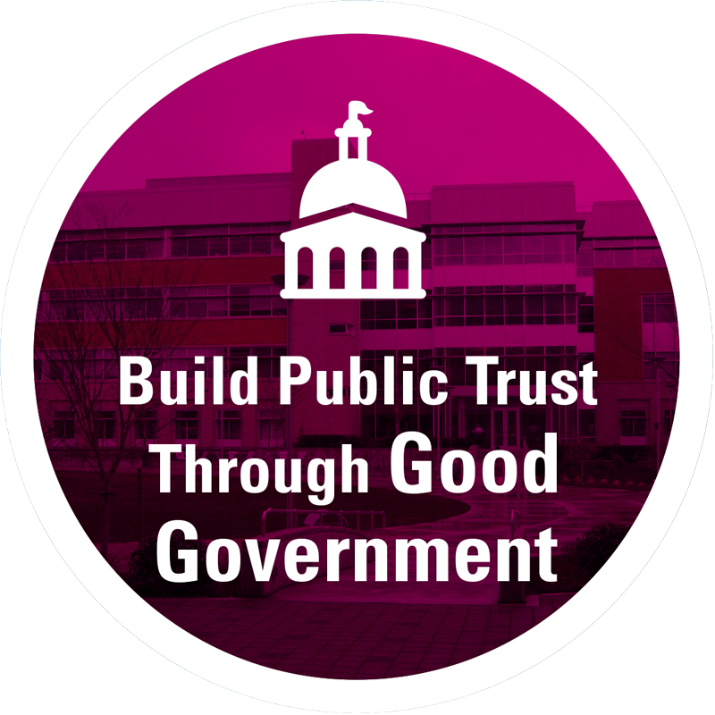 Build public trust through good government