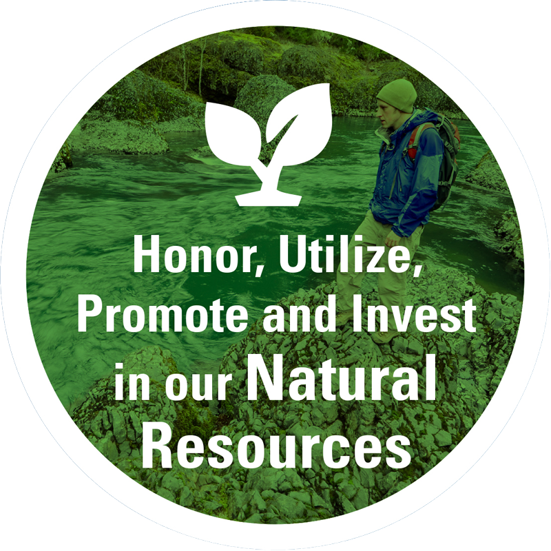 Honor, utilize, promote, and invest in our natural resources
